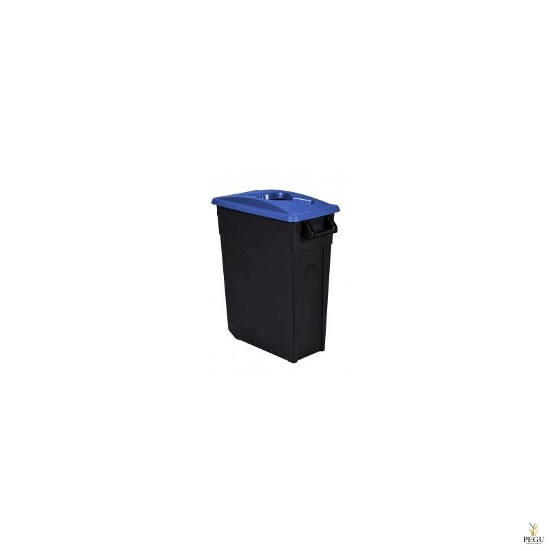 Sorteerimise prügikast 65L, sinine/must polüpropileen