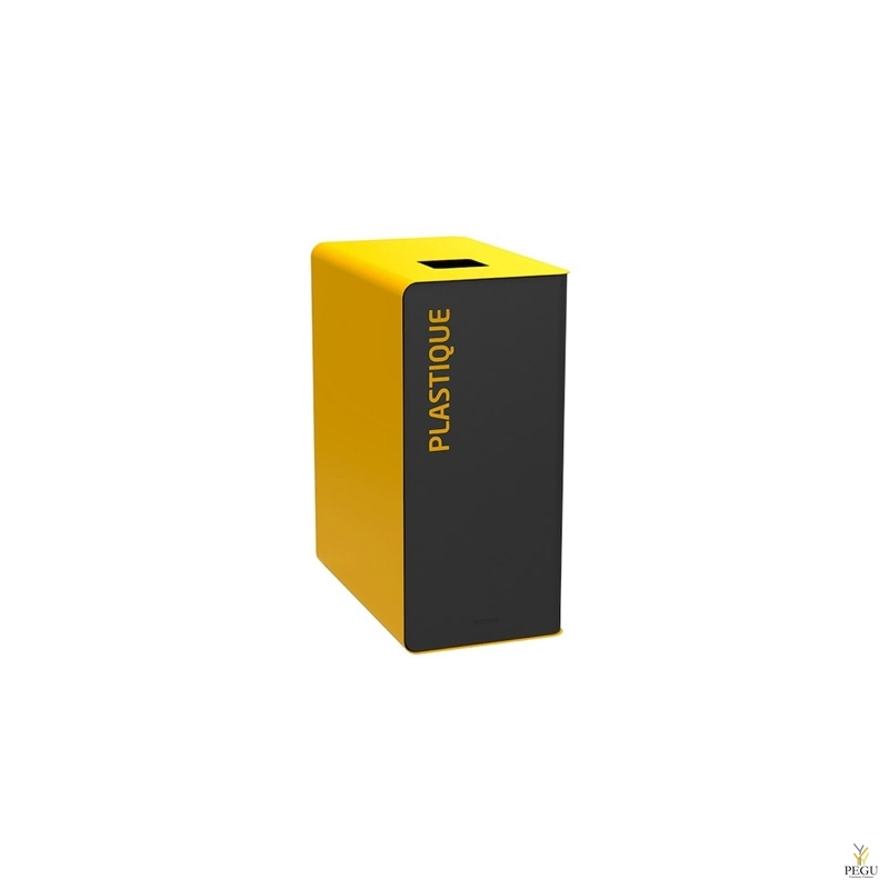 Sorteerimise prügikast CUBATRI 65L, must/kollane RAL1021 plastik