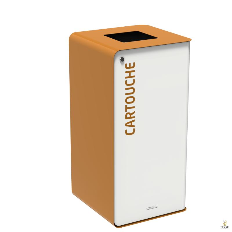 Sorteerimise prügikast lukuga CUBATRI 40L valge/pruun RAL8001 kassett