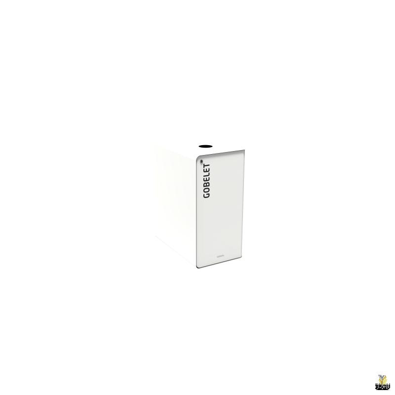 Sorteerimise prügikast lukuga CUBATRI 65L valge/valge RAL9016 tass