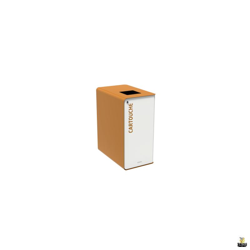 Sorteerimise prügikast lukuga CUBATRI 65L valge/pruun RAL8001 kassett