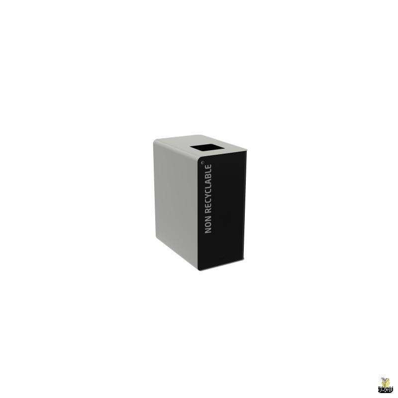 Сортировочный мусорный бак с замком CUBATRI 65L чёрный/серый RAL9022 прочие отходы