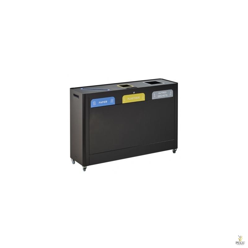 Станция для сортировки мусора TRIMOUV  3 x 60L бумага/пластик/прочие отходы