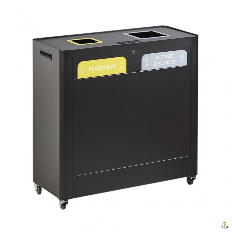 Sorteerimise prügi kogumissüsteem TRIMOUV 2 x 60L plastik/muud jäätmed