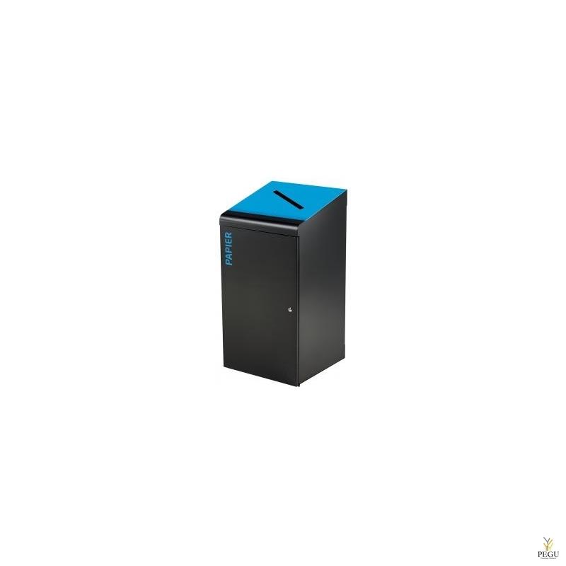 Мусорный бак для сортировки TRIPOZ 120L магний серый/синий RAL5015 бумага