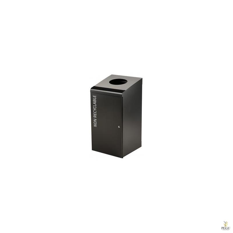 Sorteerimise prügikast lukuga TRIPOZ 120L must/hall RAL9022 pole taaskasutatav