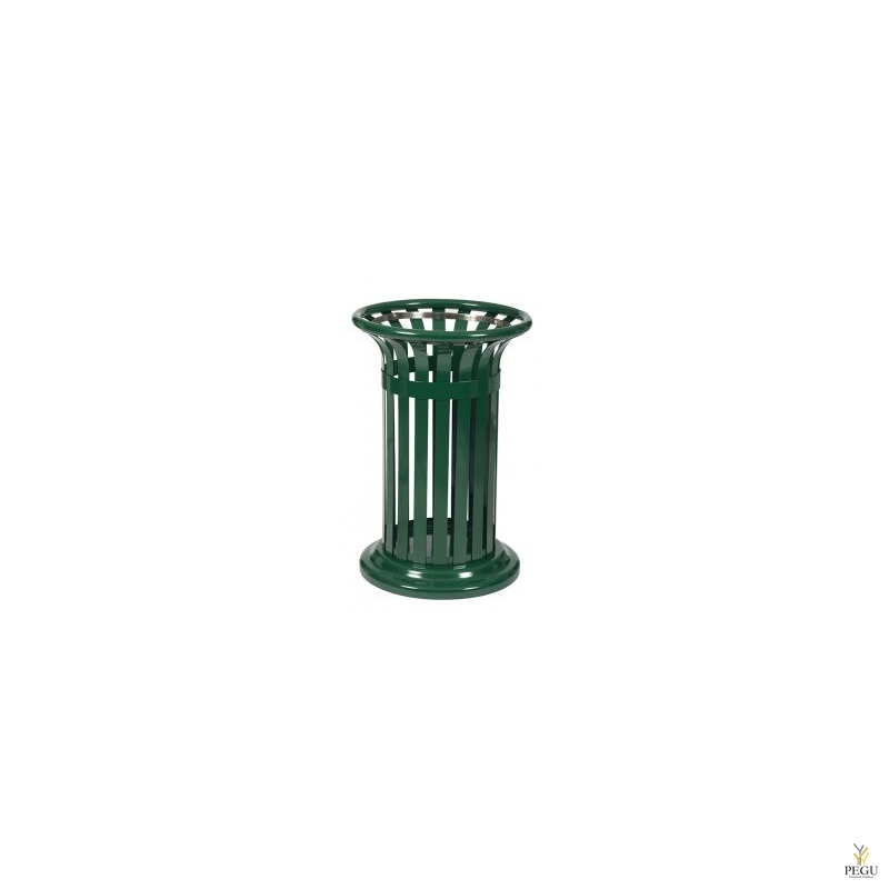 Prügikast vabalt seisev või kinnitatud TULPE 60L,  Moss roheline RAL6005