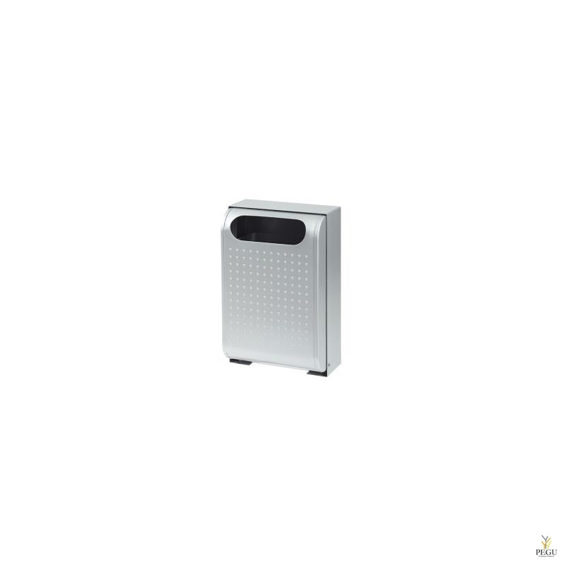 Уличная урна металлическая URBANET 30L металлик серый RAL9006