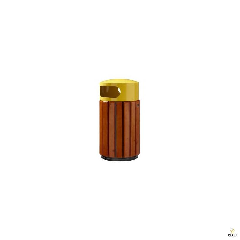 Prügikast Rossignol välitingimusele ZENO 40L pruun puu/ metall kollane RAL1021