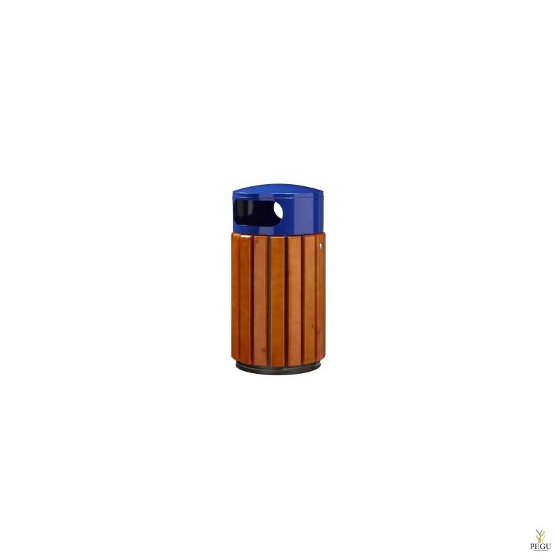 Prügikast Rossignol välitingimusele ZENO 40L pruun puu/ metall sinine RAL5002