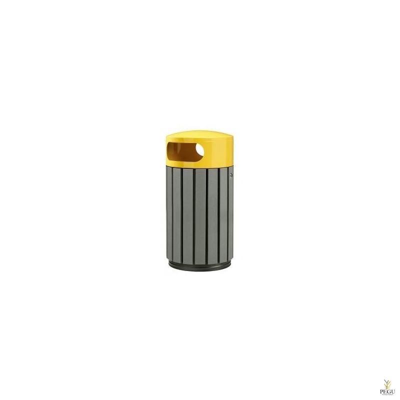 Prügikast Rossignol välitingimusele ZENO 40L hall puu/ kollane RAL1021