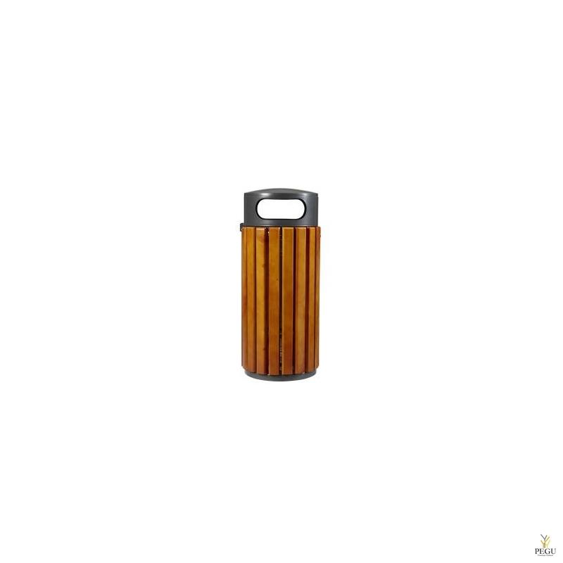 Prügikast Rossignol välitingimusele ZENO 60L pruun puu/ must