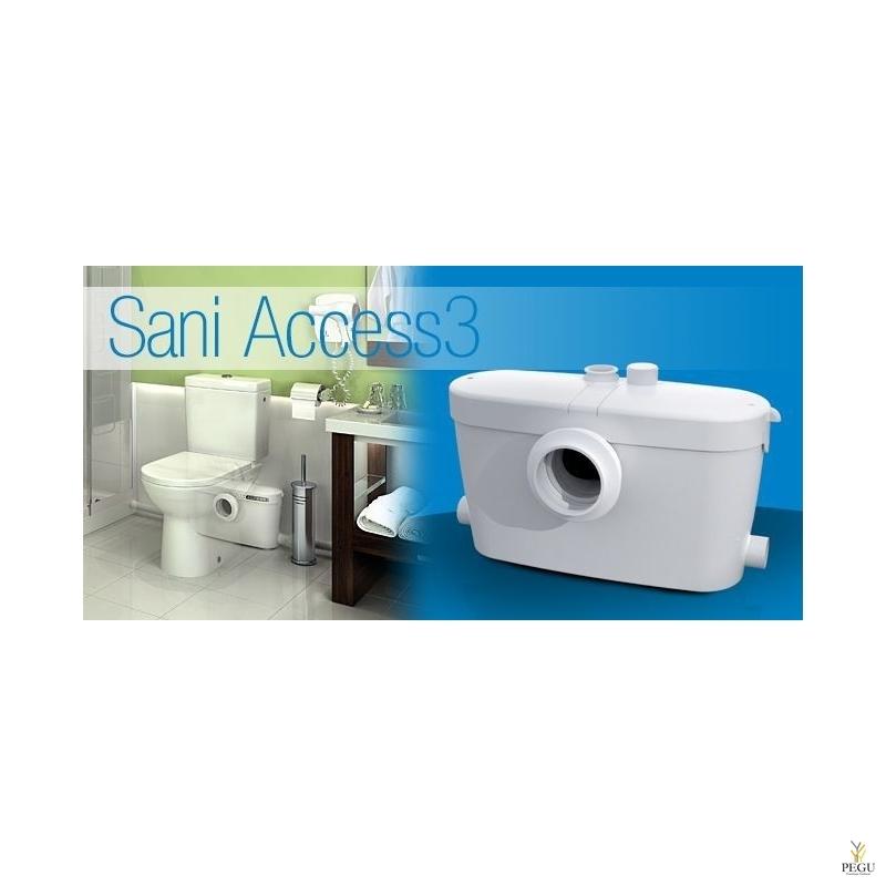 Reovee ja WC-pump Saniaccess 3 (  sobib: WC pott + valamu + dušš + bidee )
