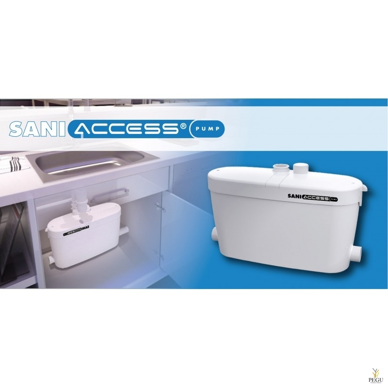 Saniaccess reovee ja WC pump (  sobib: WC pott + valamu + dušš + vann + pesumasin + nõudepesumasin )
