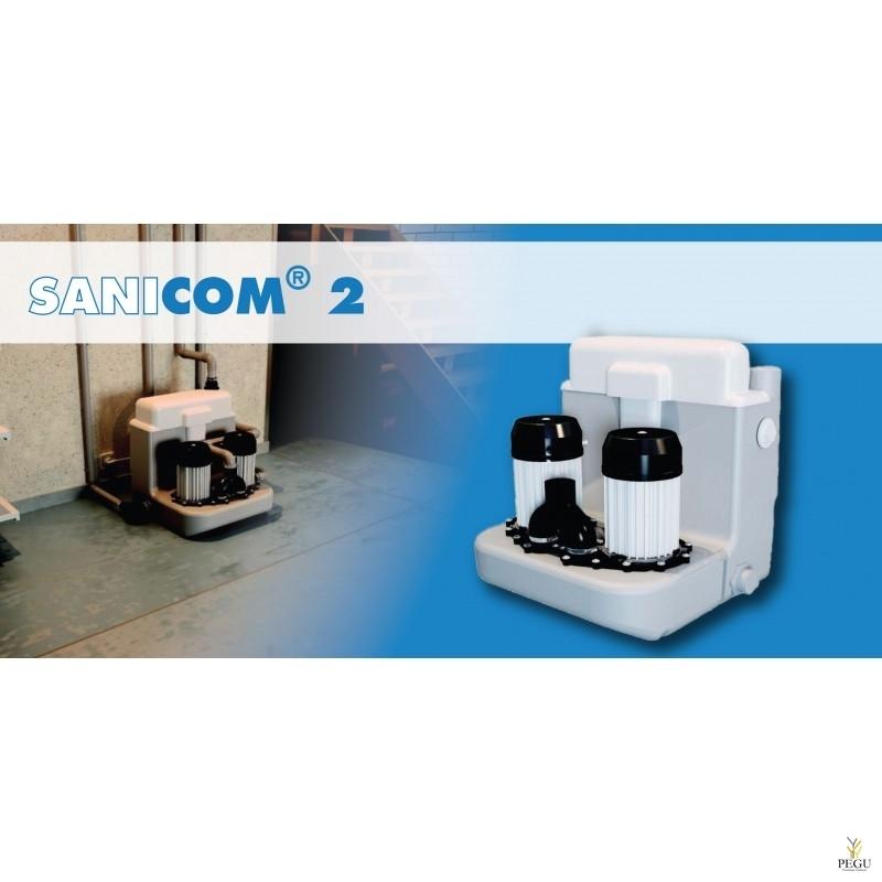 Sanicom 2 ( можно: раковина + душ + ванна+ стиральная машина + посудомоечная машина )