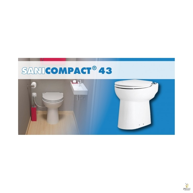 WC pumbaga Sanicompact 43 (  sobib:WC+valamu )