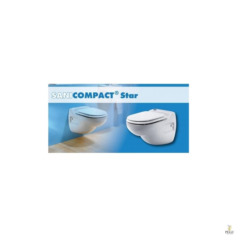 WC reaovee pumbaga Sanicompact Star ( sobib: WC+valamu )