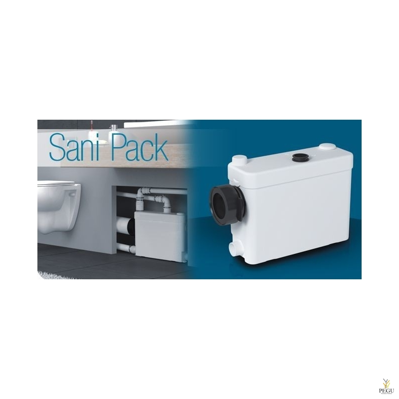 Sanipack (  seinapealse WC pott; sobib:+valamu + dušš + bidee )