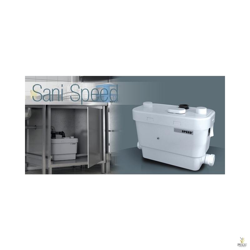 Reovee pumpla Sanispeed ( sobib:valamu + dušš + bidee + vann + pesumasin )