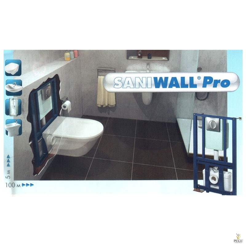 Saniwall Pro (можно: WC  + раковина + душ + биде )