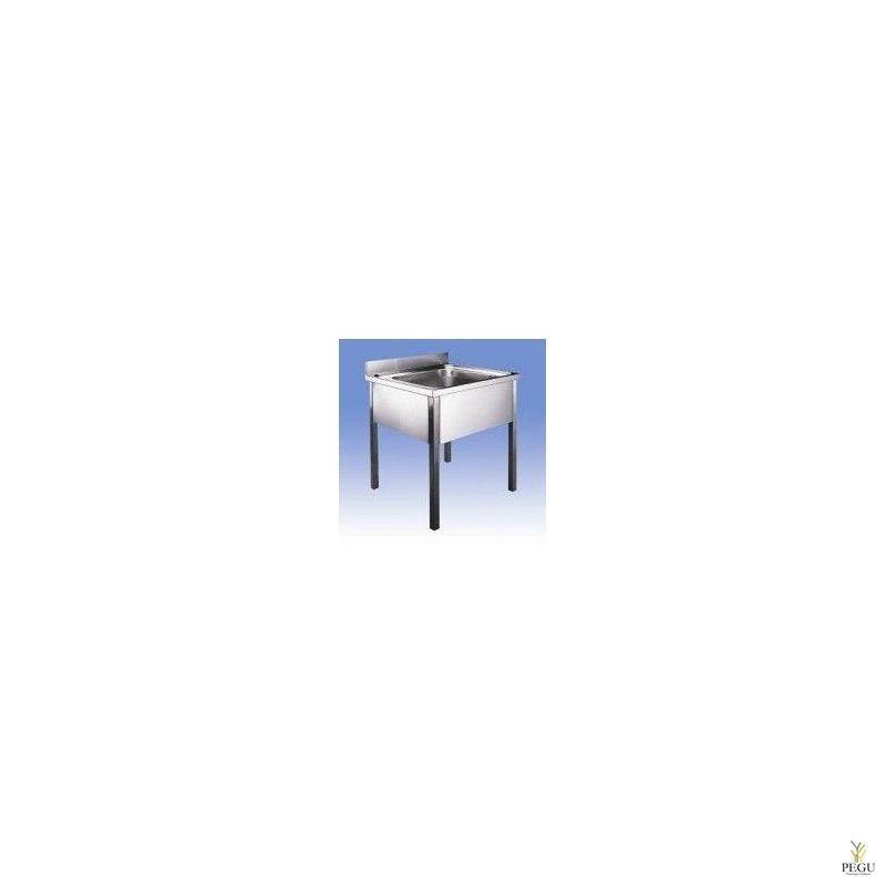 Раковина с ножками 700x700, высота 850mm , Н/Р сталь