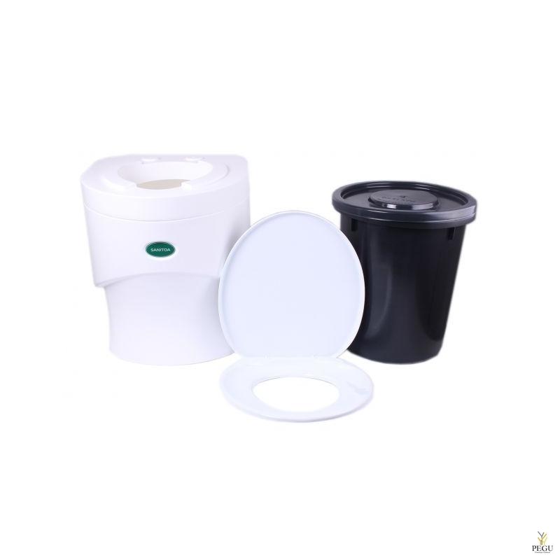 Separett сухой туалет Sanitoa с ведром, белый