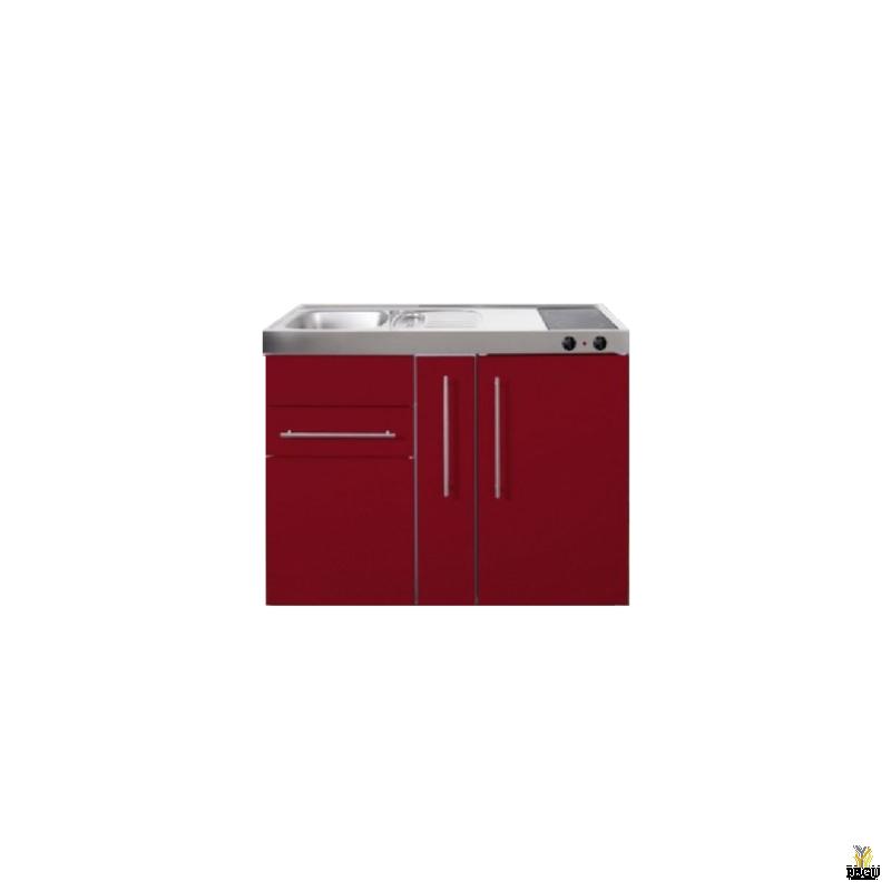 Miniköök metallist Stengel MP120A,  külmikuga, induktsioonpliidiga, COLOR, valamu vasakul