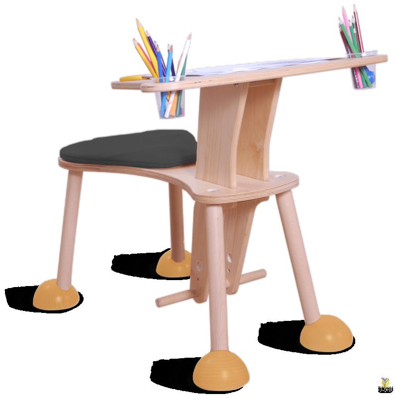 Clexo mängu koht, laud istmega, Iste must, jalad kollased