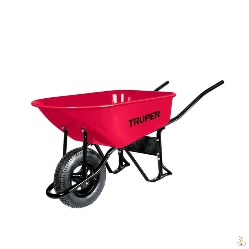 Металлическая садовая тачка 100L,  на пневматических колёсах, Truper 11776
