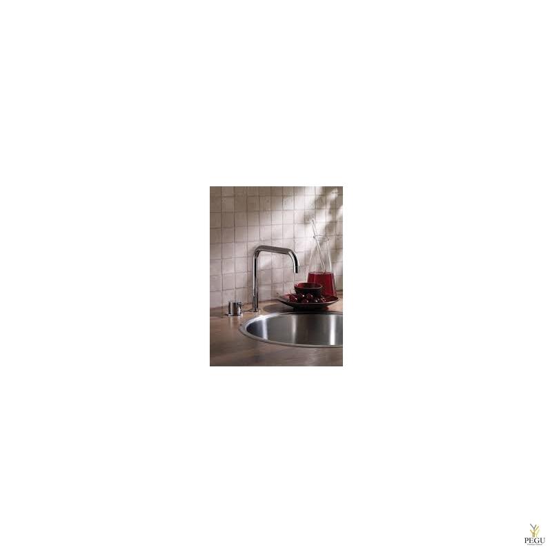 VOLA Смеситель с ручкой кухонный 590,  Н/Р сталь