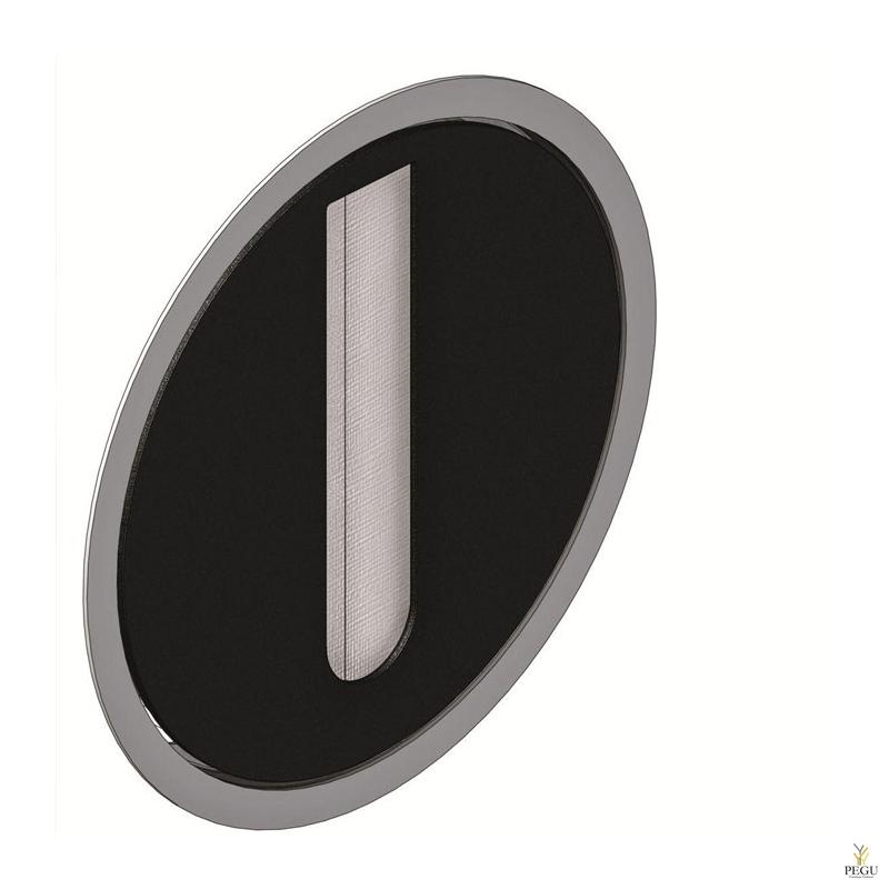 Утопленный дозатор для бумажных полотенец RS2/B внутри чёрный
