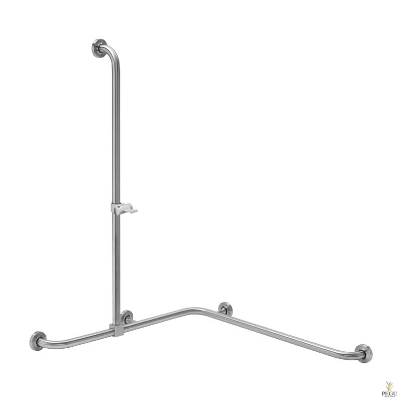 Инвалидная ручка для душевой 900x900x 1150mm с держателем для душа Н/Р сталь
