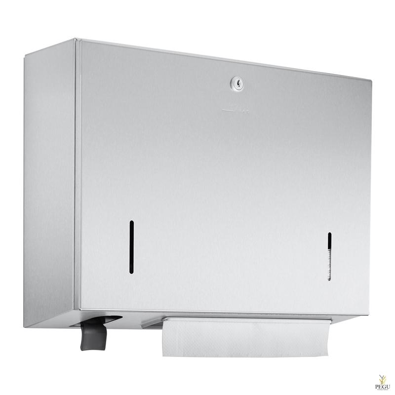 Дозатор для бумажных полотенец 500 шт + дозатор для жидкой пены 400ml бутылка Н/Р сталь сатин