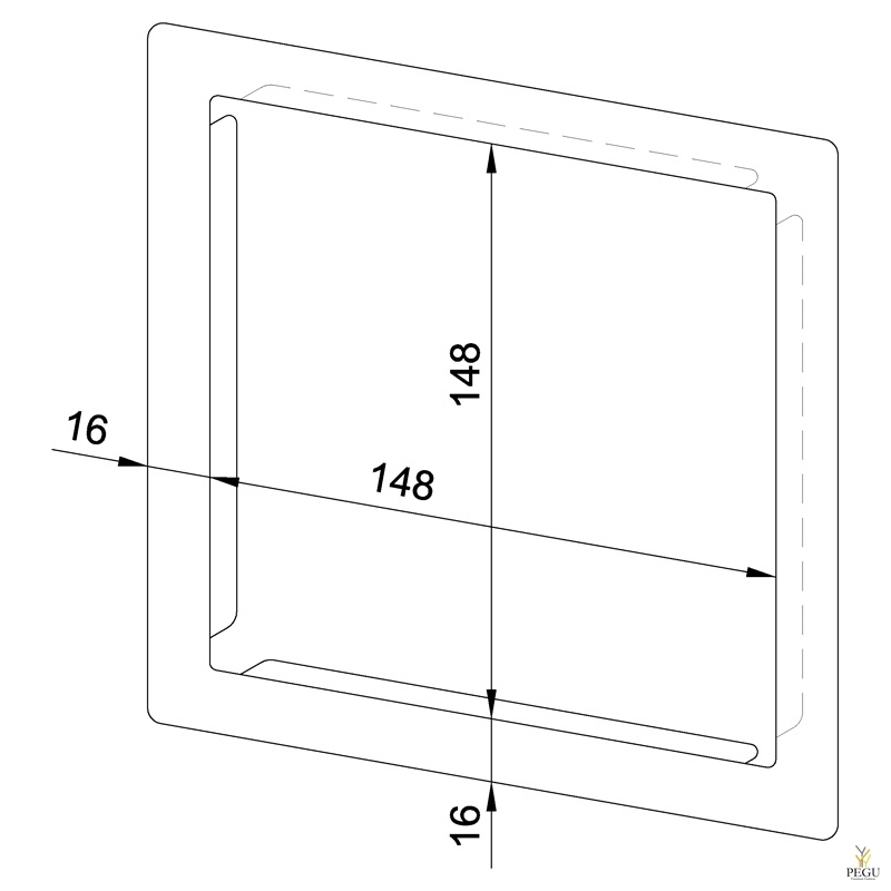 Raam Seebidosaatorile senasisene WP106S, R/V teras satiin