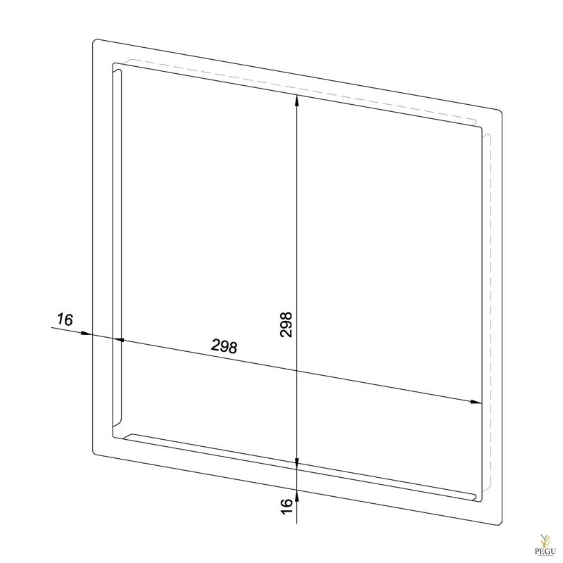 Raam Paberidosaatorile senasisene WP114S, R/V teras satiin