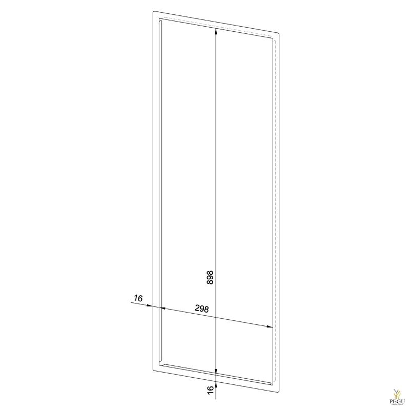 Рамка для встраеваемой урны WP147/530, Н/Р сталь сатин