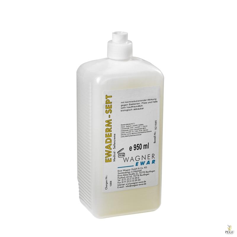 Vedelseep anti-bacterial Ewaderm Sept, WAGNER EWAR, pudel  950ml (12 tk kast)