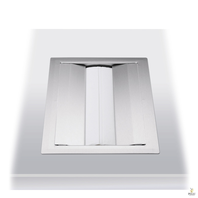 Дозатор для бумажных полотенец, в столешницу 250 шт Н/Р сталь, матовый
