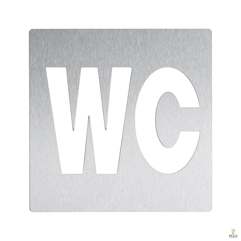 """Пиктограмма """"WC"""", на клей, Н/Р сталь,сатин"""