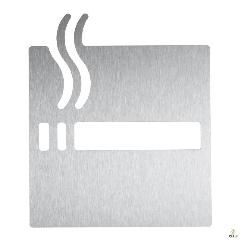 """Пиктограмма """"Место для курения"""", на клей, Н/Р сталь,сатин"""
