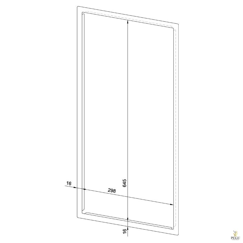 Лицевая рамка WP501 нержавеющая сталь сатин