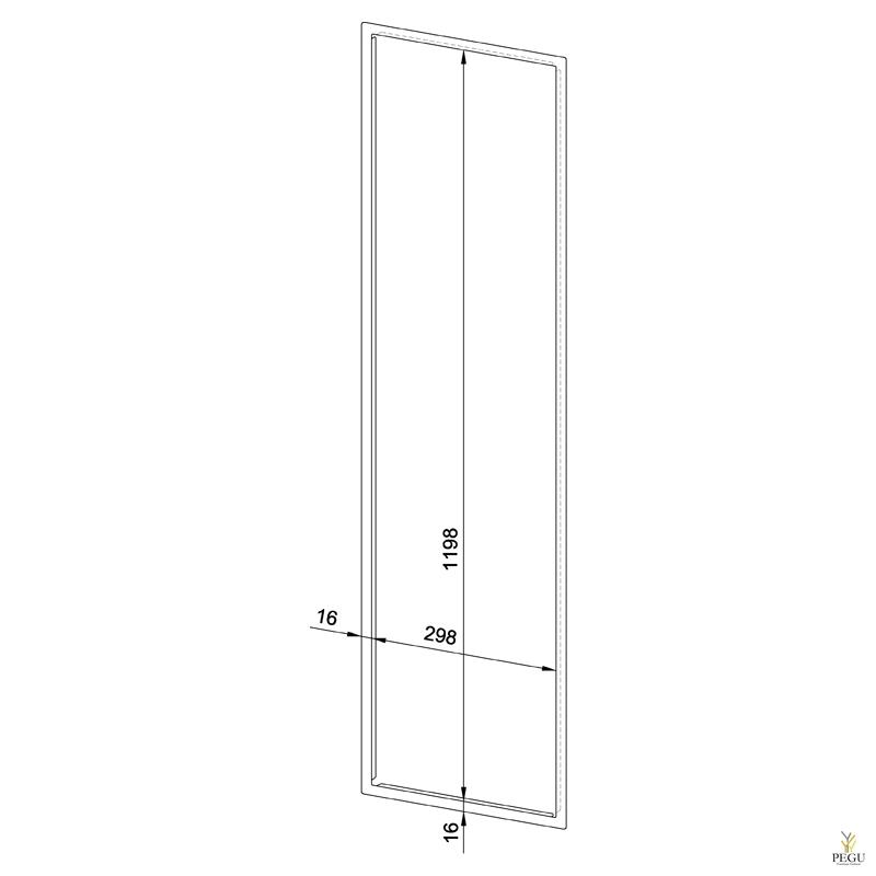 Лицевая рамка WP610/5110/5120 нержавеющая сталь сатин