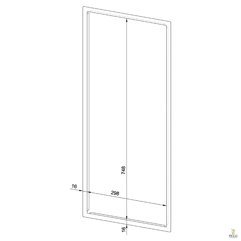 Лицевая рамка WP612 нержавеющая сталь сатин
