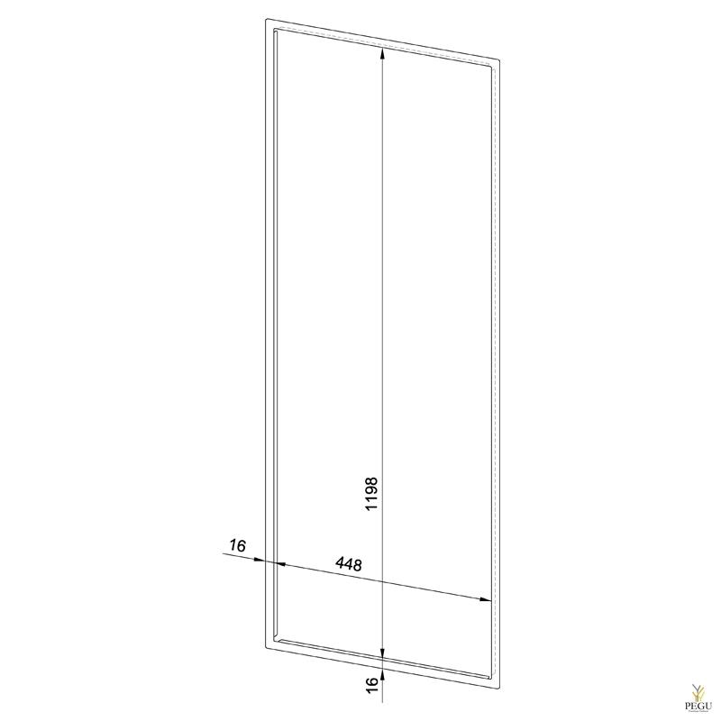 Лицевая рамка WP5410/5420 нержавеющая сталь сатин