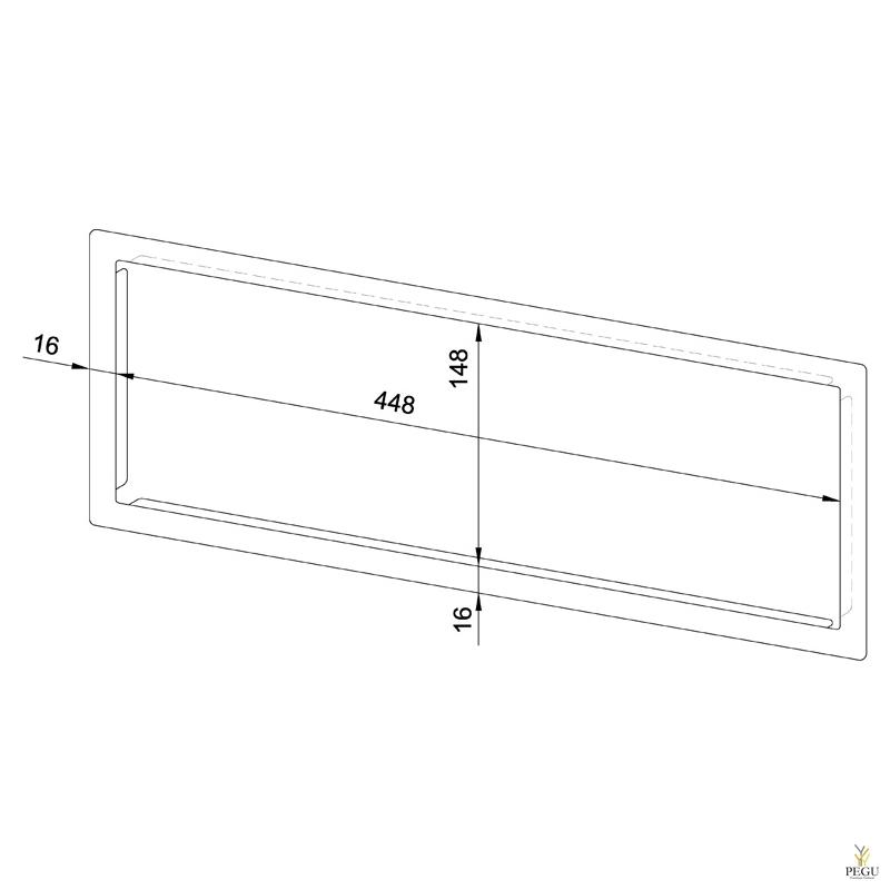 Лицевая рамка WP506 нержавеющая сталь сатин