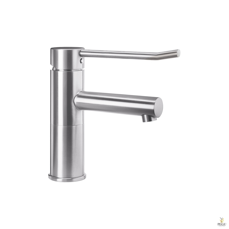 Смеситель для раковины длинная ручка Wagner Ewar нержавеющая сталь AISI303 полированный