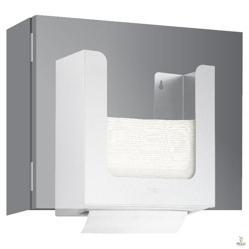 Дозатор для бумажных полотенец, в шкаф  500 шт Н/Р сталь, матовый