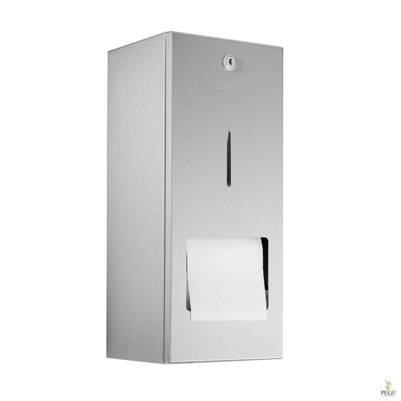 WC держатель Wagner Ewar для туалетной бумаги, 2 рулона , Н/Р сталь сатин