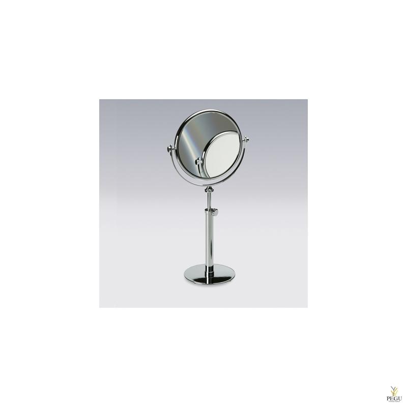 Настольное косметическое зеркало , увеличение 3X , хром