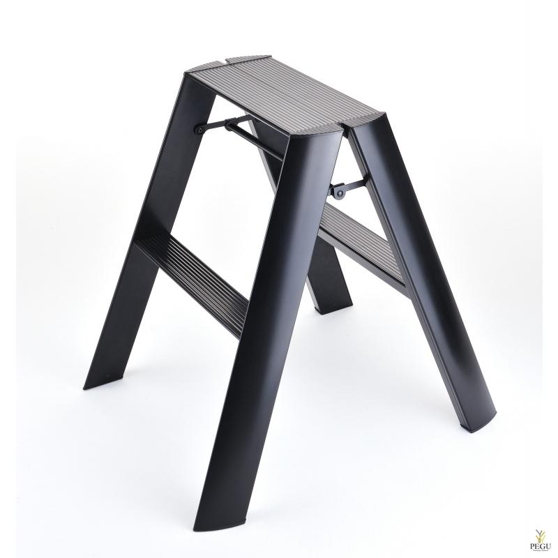 Дизайн лестница Hasegawa 2 ступени чёрная